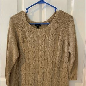 Talbots cable knit sweater MP.